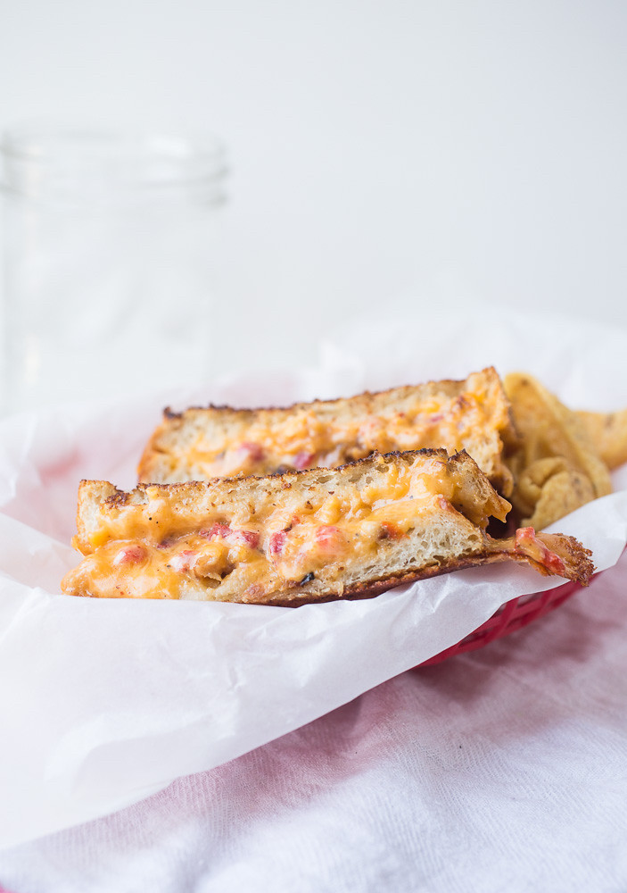 Grilled Pimento Cheese Sandwiches with Bacon