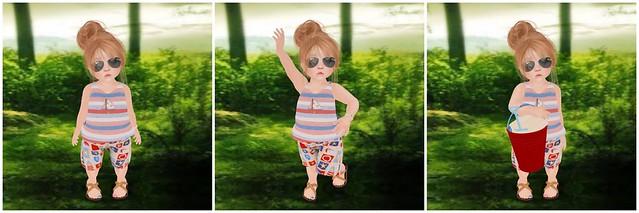 {Lil Big Me} Lil Nautical Swim Outfit