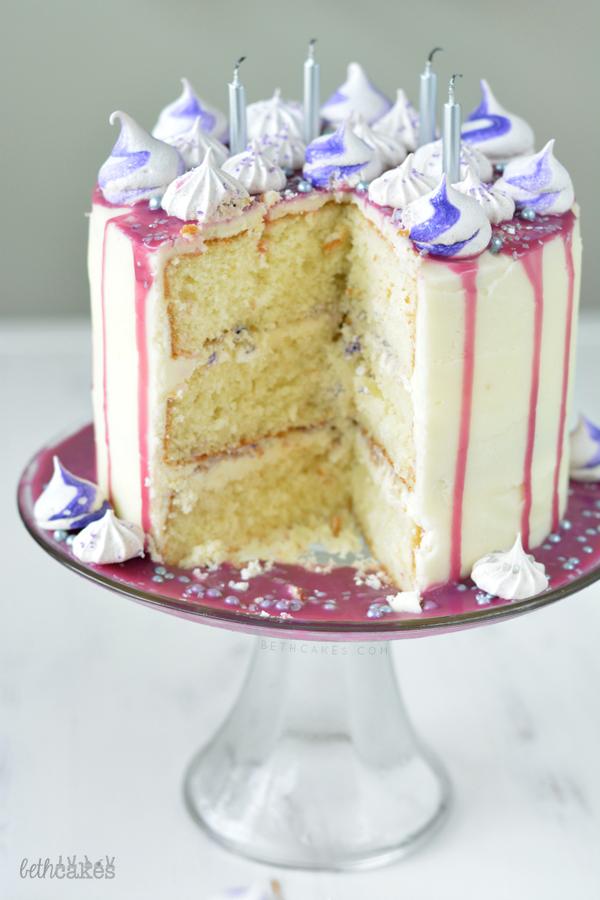 Purple Party Cake! bethcakes.com