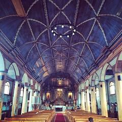 Barroco de madera. Iglesia Santa María de Loreto, Achao, Chiloé, Chile.