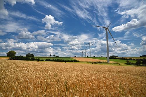Moulins à vent contemporain