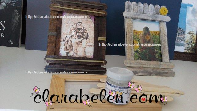 Cómo hacer un marco de fotos con abatelenguas, palitos de mantecado o