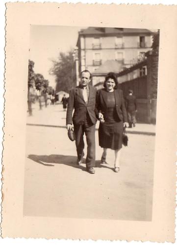 Ramon et sa femme Claire, vers 1946