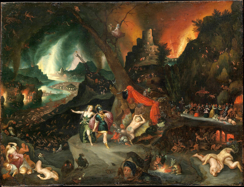 Jan Brueghel the Younger - Aeneas and the Sibyl in the Underworld, 1630's