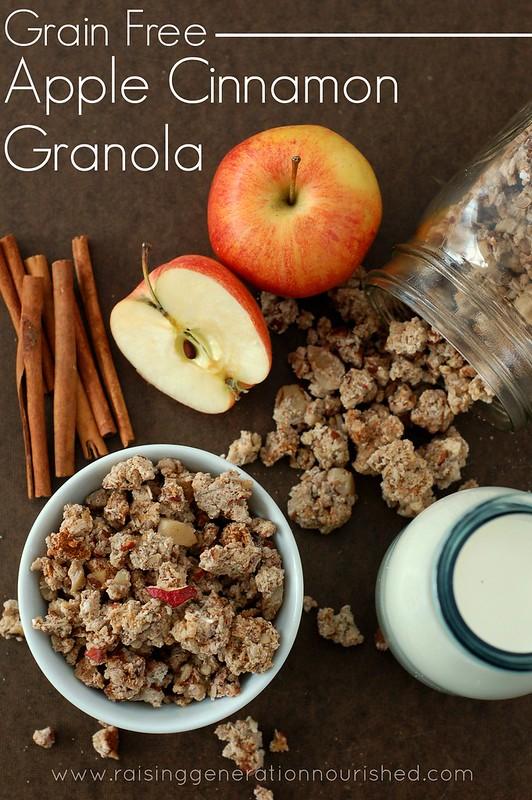 Grain Free Apple Cinnamon Granola - Raising Generation Nourished