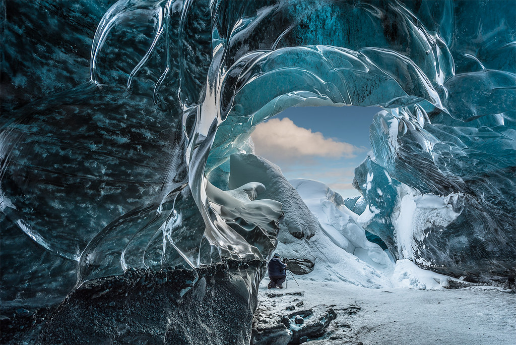 Ice cave in the afternoon