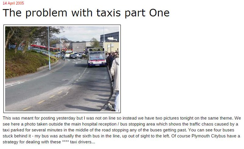 Plymothian Transit- The problem with taxis part One