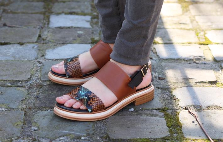 zinda snakeskin sandals