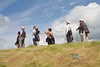 Japanese tourists at Broadway tower