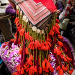 Headress of the Red Dao tribe, Sapa, northern Viet Nam.