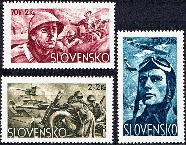 Známky Slovenský štát 1943, Vojenské dobročinné