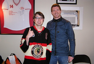 Me with former Chicago Blackhawks Center Colin Fraser