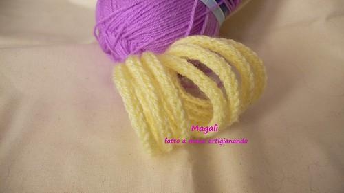 bracciale tricotin giallo scaldapolso