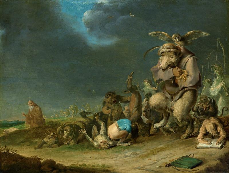 Cornelis Saftleven - Temptation of Saint Anthony, 1629