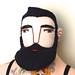 Man face, beard by Mimi K