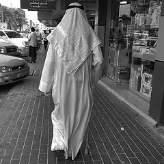 #leisure #walk in #Muharraq #suq in the #evening #elderly #man #pavement