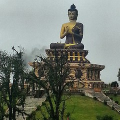 #stunning #view of the #buddha #statue at the Buddha #park in #sikkim #india #mountains #india