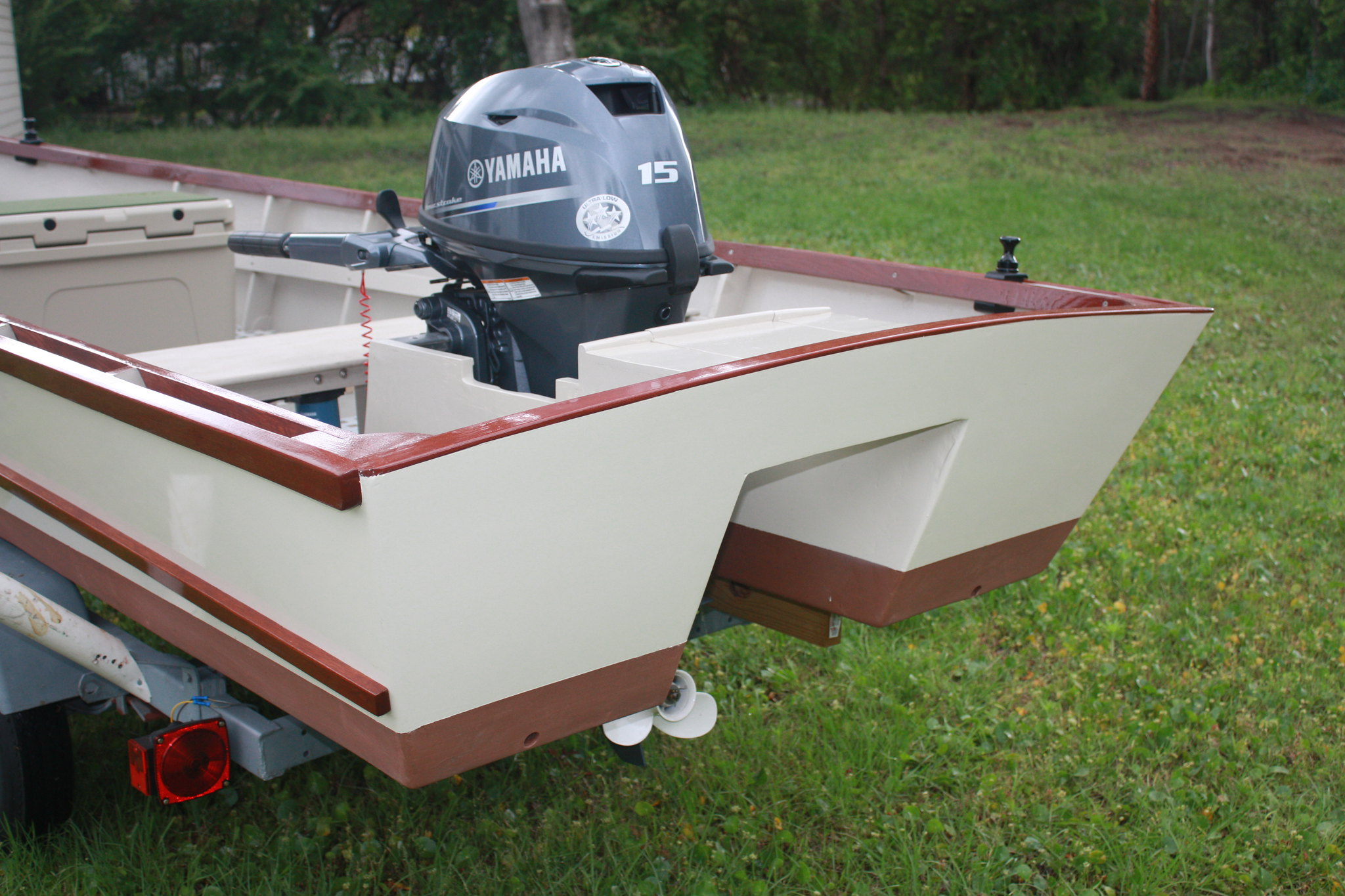 Converting a wooden net boat into a flats skiff   Microskiff