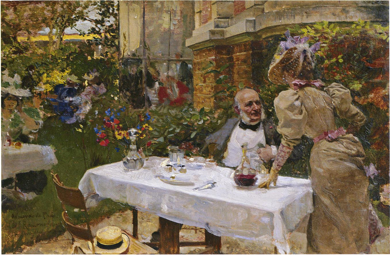Cafe de Paris by Joaquin Sorolla y Bastida - 1885