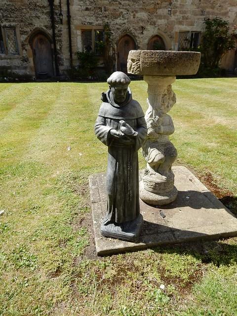 St Francis and birdbath