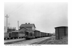 Cayeux. Loco 351 & train from Noyelles. 17.7.62