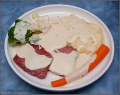 Corned Beef and Garlic Mashed Potato