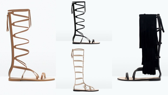 sandalias gladiadoras Zara