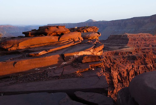 sunset utah moab hurrahpass rockform
