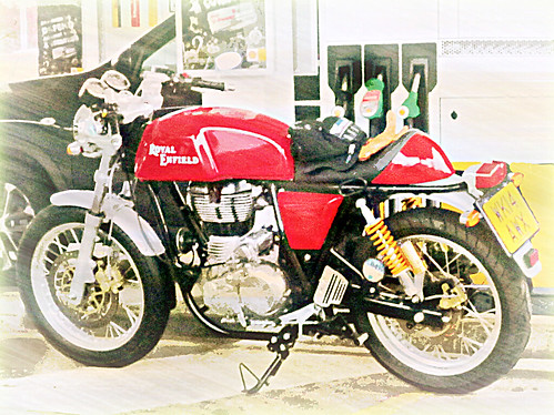 Red Royal  Enfield ..