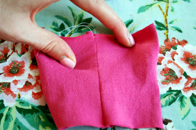 straight stitch seam rightside