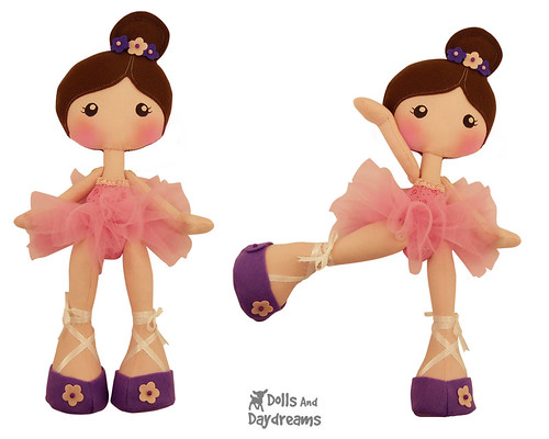 New LuLu Ballerina Art Doll Sewing Pattern | Dolls And Daydreams
