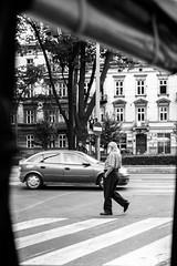 Crossing the street...