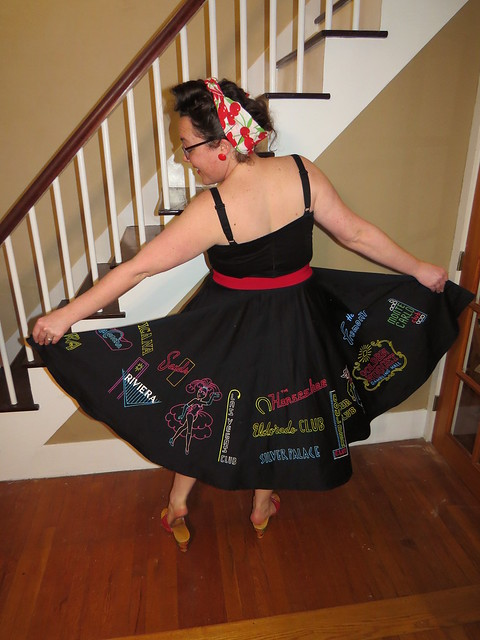 Natalie painted this awesome skirt for our trip to Viva Las Vegas 18 next week!