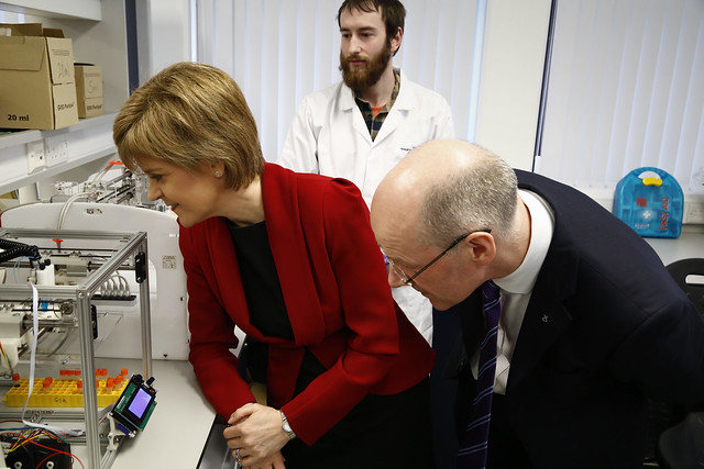 First Minister and Deputy First Minister visit Heriot Watt University
