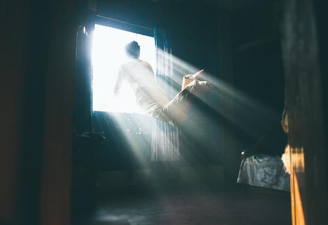 Into the light - self portrait
