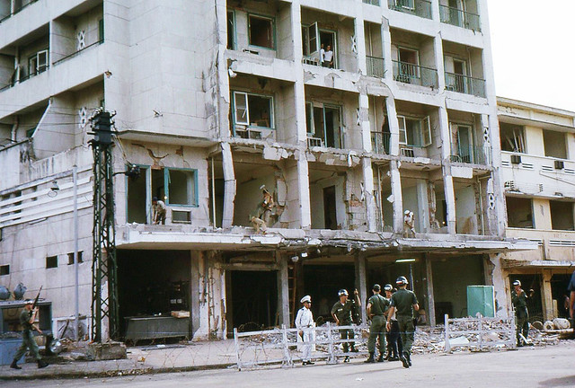 Metropole Hotel BEQ Bombing in Saigon During Vietnam War - 1965