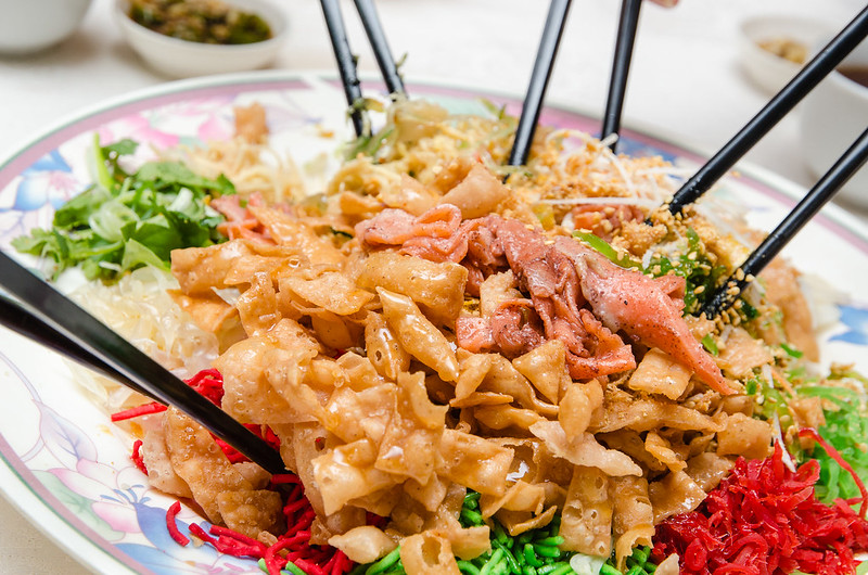 Yee Sang with salmon at Green View Restaurant 长青海鲜饭店, Petaling Jaya