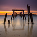 Decayed Pier to the Sea under North Atlantic Sunrise, West Beach Beverly Farms Massachusetts by Greg DuBois Photography