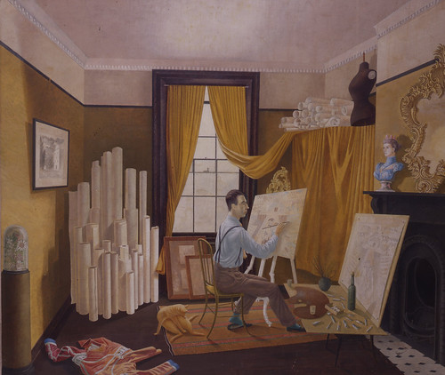Edward_Bawden_Working_in_His_Studio