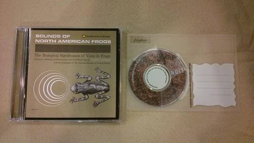 Yannick分享的蛙鳴《Sounds of North American Frogs》(左)及概念專輯(右);攝影:林倩如