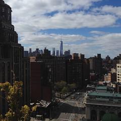 Blue skies over Gotham