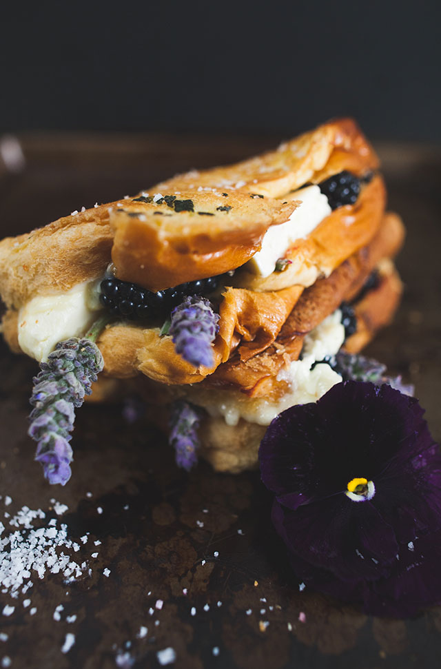 Blackberry Lavendar Grilled Cheese
