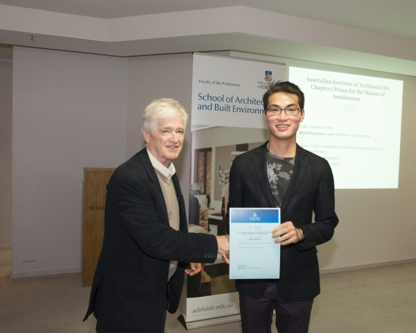 2014 Winner: Duy Dang - Presented by Prof Steve Grieve on behalf of AIA (SA Chapter)