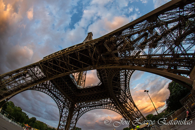 Eiffel Tower Paris fisheye