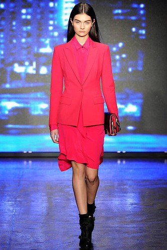 Punky Classic Hot Pink  Fashion #Trend for Fall Winter 2013 #NYFW  New York Fashion Week DKNY Fall Winter 2013