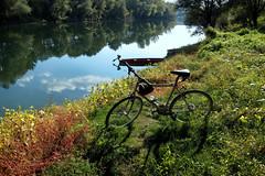 Bicycle near river Kupa