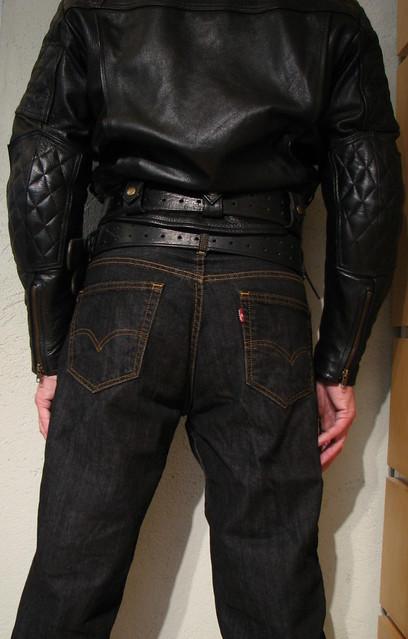 Bullhide angry belt 2x80 and 2,25x48 Levis 00560 0012 33x34 Black Rince Leather Maniacs MC-Jakke L B1 2107 2016-10-02