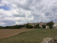 Régusse under gathering clouds