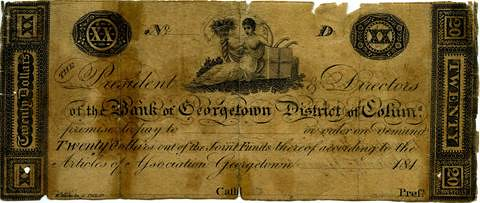 Georgetown $20 banknote Haxby DC-100-G12