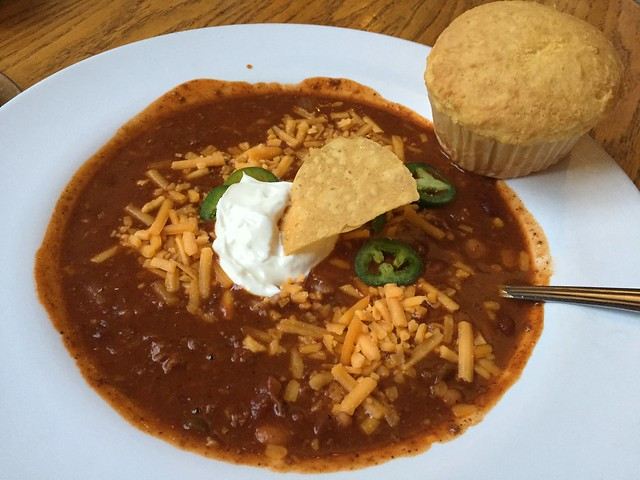 Grass-fed beef chili bowl - Mountain Room Lounge